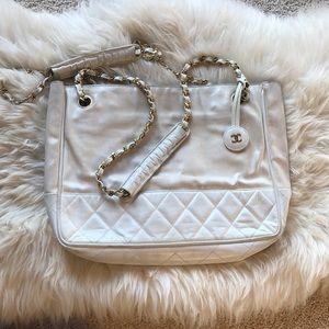 Vintage Chanel Handbag, White